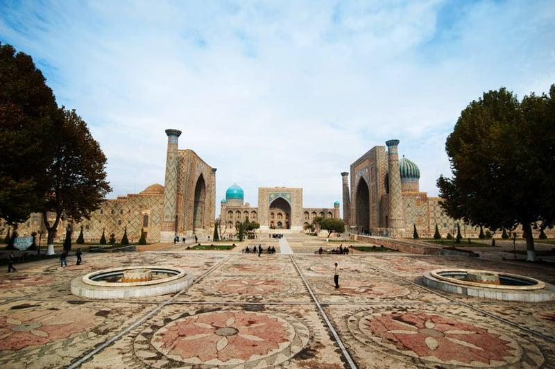 Площадь Регистан в Самарканде / Фото из Узбекистана