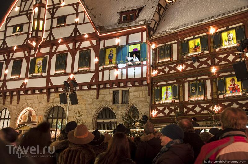 Рождественская ярмарка в Форхайме в Верхней Франконии / Германия