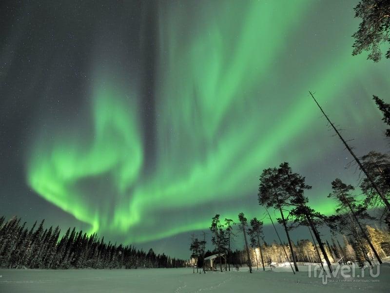 Северной сияние в Финляндии / Финляндия
