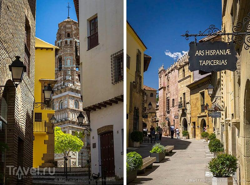 Башня Утебо в Испанской деревне в Барселоне / Фото из Испании
