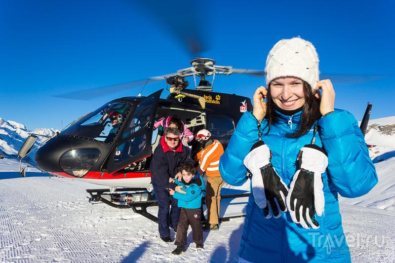Les Deux Alpes: полёт на вертолёте над французскими Альпами / Фото из Франции