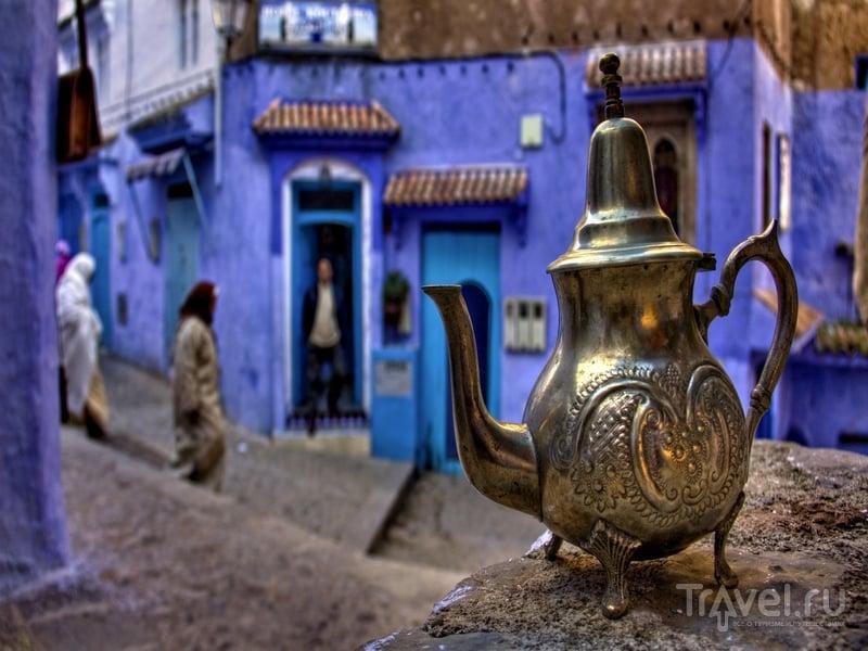 Местные жители перекрашивают дома несколько раз в год / Марокко