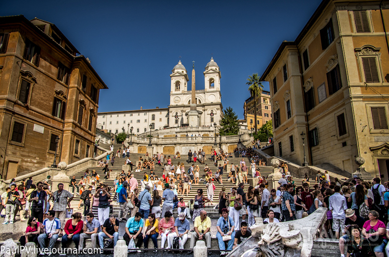 Испанская лестница в Риме, Италия / Фото из Италии