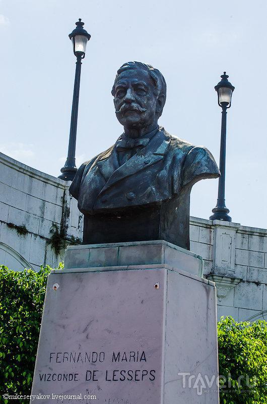 Памятник Фердинанду де Лессепсу в Каско-Вьехо / Фото из Панамы