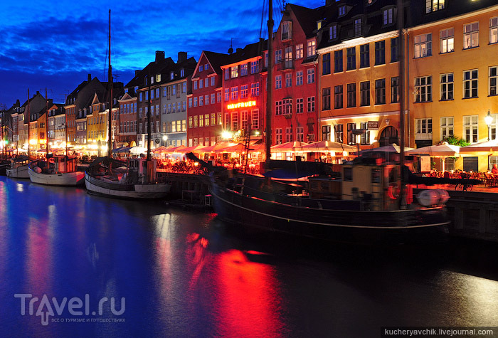 Гавань Нюхавн в Копенгагене / Фото из Дании