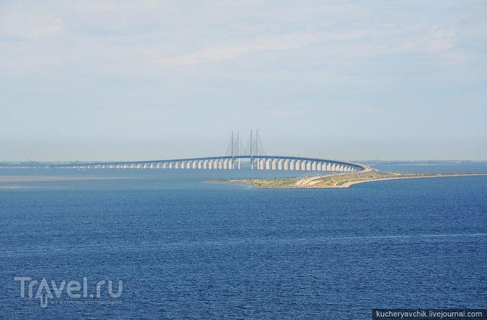 Мост через канал Орезунд / Фото из Дании