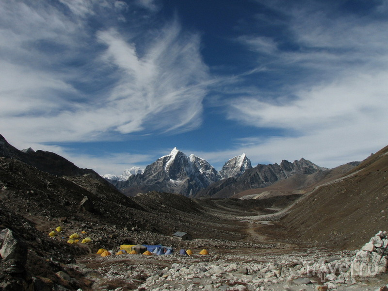 Возле Базового лагеря Айленд-Пика / Фото из Непала