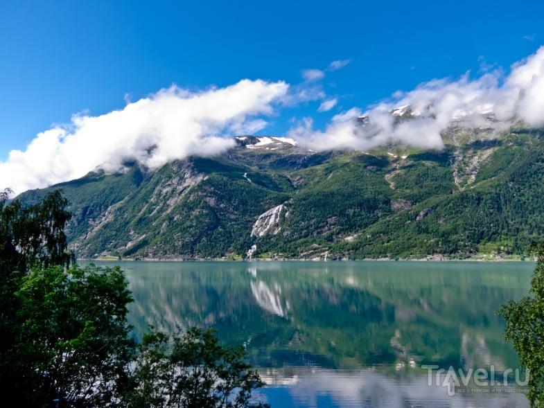 Водопад Эднафоссен в Сёрфьорде / Фото из Норвегии