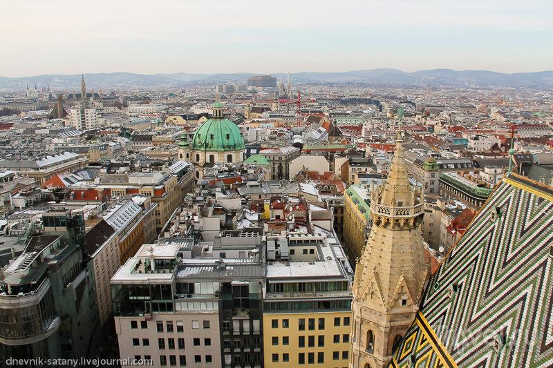 Вид на Вену с собора Святого Стефана, Австрия / Фото из Австрии