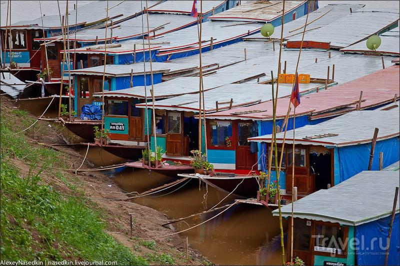 Река Меконг и лаосские деревушки / Фото из Лаоса