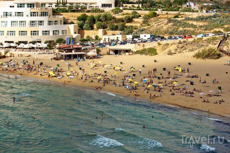 Пляж Голден-Бей, Мальта / Фото с Мальты