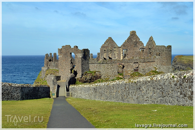Замок Данлюс – между Шотландией и Ирландией / Фото из Великобритании