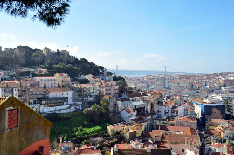 Вид на Лиссабон и крепость Святого Георгия / Фото из Португалии
