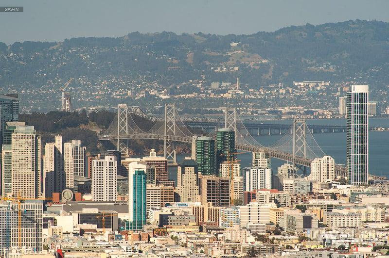 Окленд-Бэй-Бридж в Сан-Франциско / Фото из США