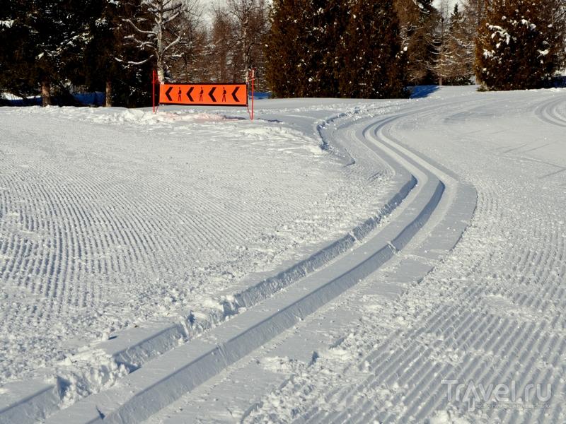 Подготовленные трассы для беговых лыж в Кран-Монтане / Фото из Швейцарии
