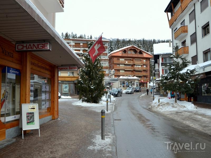Улицы курортной Кран-Монтаны / Фото из Швейцарии