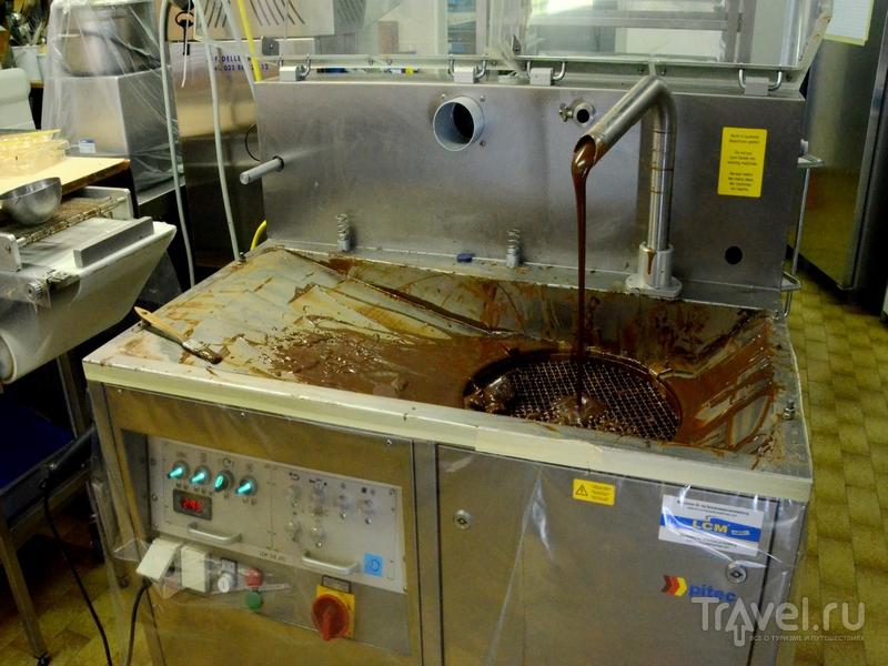 Процесс изготовления шоколада марки DAVID, Кран-Монтана / Фото из Швейцарии