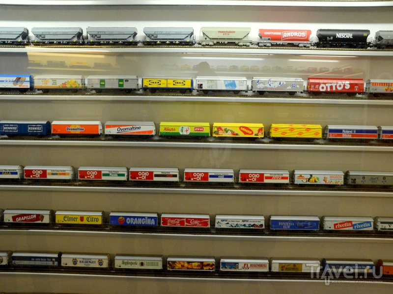 Экспонаты в музее миниатюрных поездов в Кран-Монтане / Фото из Швейцарии