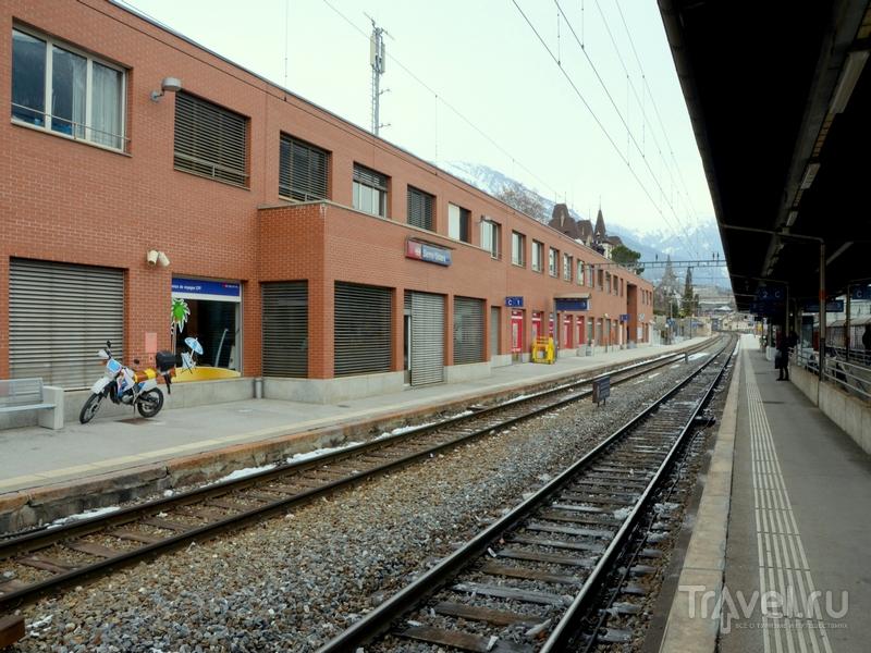 Железнодорожный вокзал в Сьере (Sierre) / Фото из Швейцарии