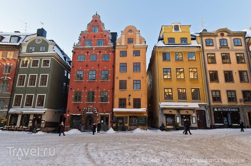 Площадь Stortorget в Стокгольме, Швеция / Фото из Швеции