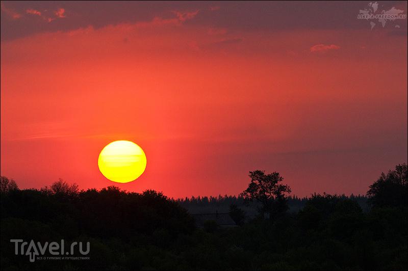 Вид с холма Ишутинского городища, Россия / Фото из России