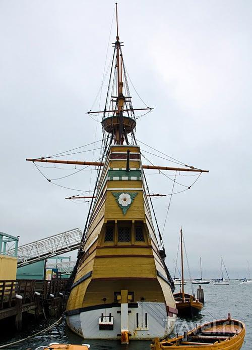 Музей корабля Mayflower II в Плимуте, США / Фото из США