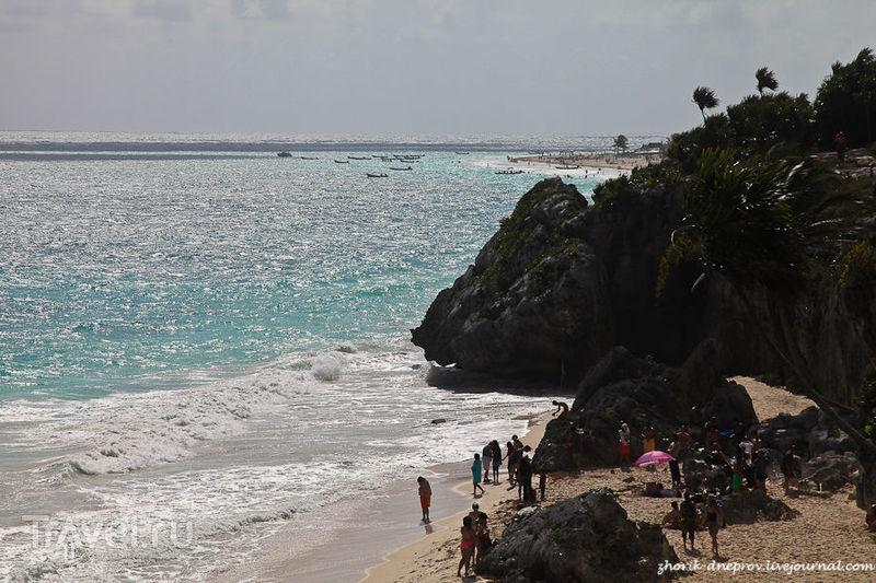 Пляж возле Тулума, Мексика / Фото из Мексики