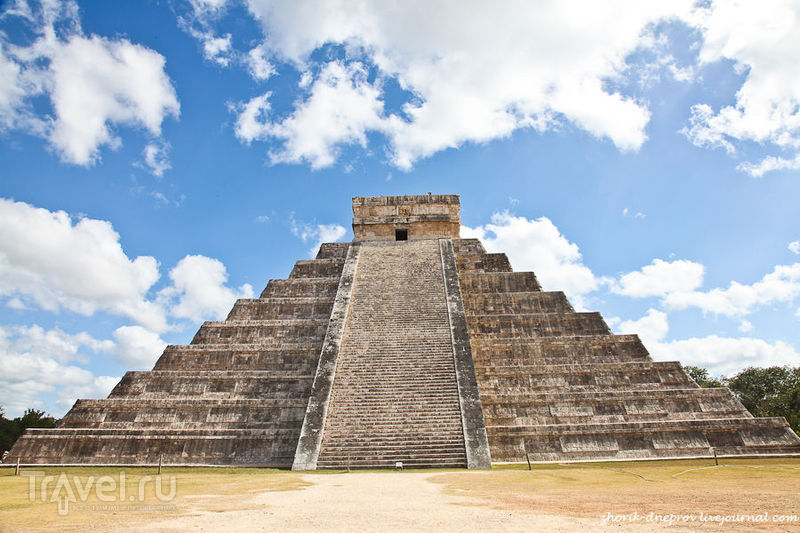 Пирамида майя Чичен-Ица, Мексика / Фото из Мексики
