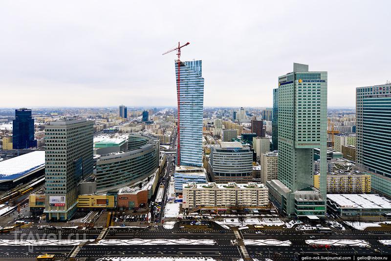 Здание железнодорожного вокзала Warszawa Centralna, Варшава / Фото из Польши
