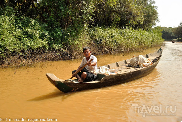 Озеро Тонлесап, деревни на воде. Камбоджа / Камбоджа