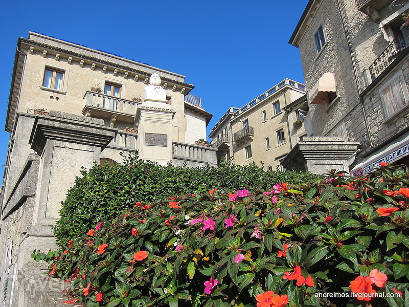 Памятник Джузеппе Гарибальди (Giuseppe Garibaldi), Сан-Марино / Фото из Сан-Марино