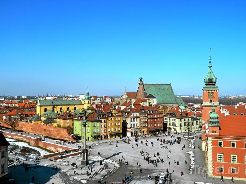 Замковая площадь в Варшаве, Польша / Фото из Польши