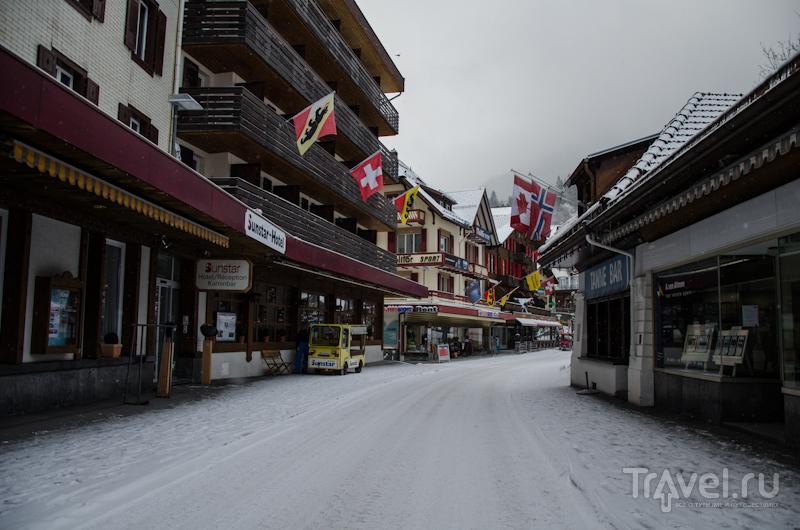 Главная улица в Венгене / Фото из Швейцарии