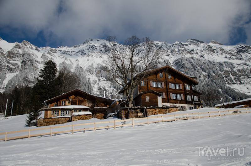 Домики долины Лаутербруннен / Фото из Швейцарии