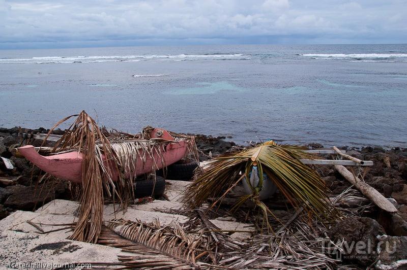 В деревне Сатауа, Самоа / Фото с Западного Самоа