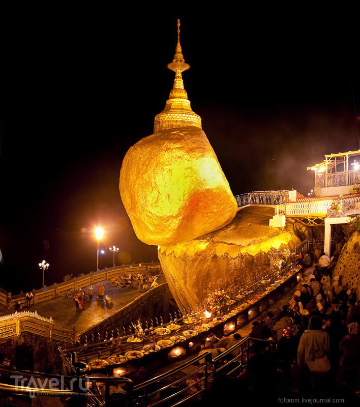 Ступа Чайттийо в Мьянме / Фото из Мьянмы