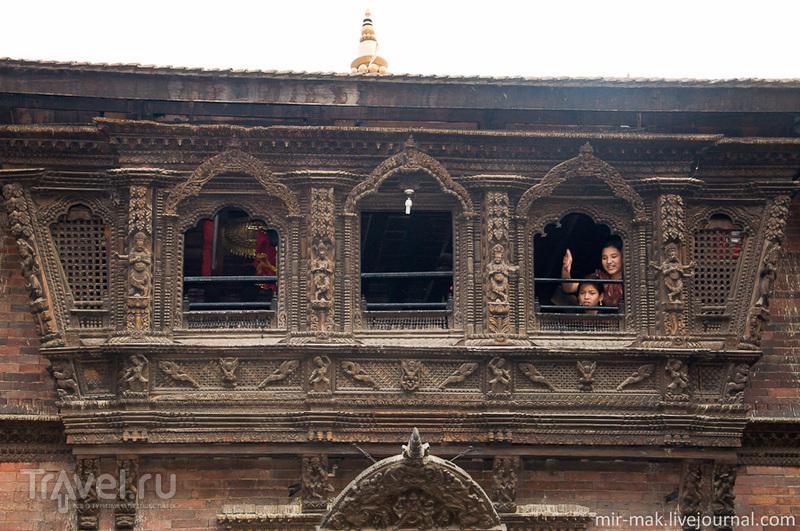 Балкон богини Кумари на площади Дурбар в Катманду, Непал / Фото из Непала