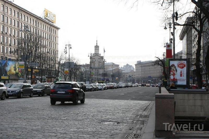 Улица Хрещатик в Киеве, Украина  / Фото с Украины