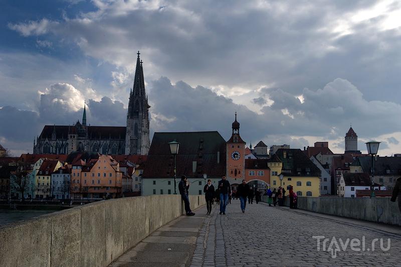 Каменный мост в Регенсбурге / Фото из Германии