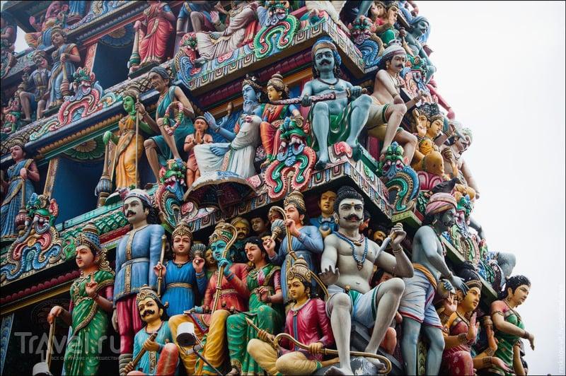 Индуистский храм Шри-Мариамман, Сингапур / Фото из Сингапура