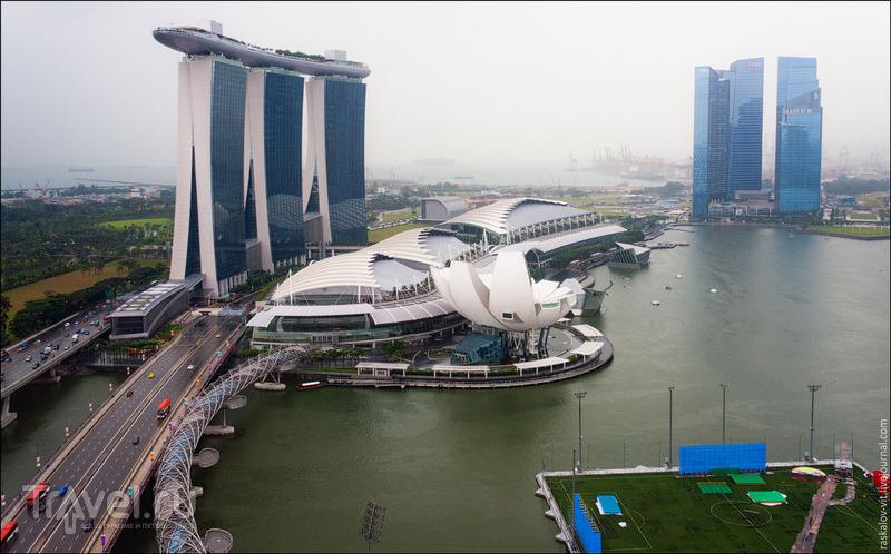 Марина-Бэй, мост Эспланда и Музей искусства и науки, Сингапур / Фото из Сингапура