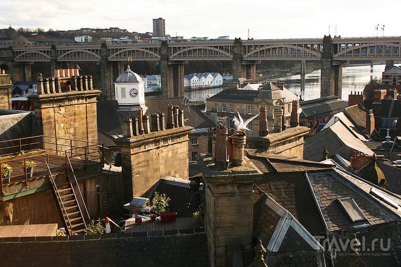 Мост через реку Тайн в Ньюкасле, Великобритания / Фото из Великобритании