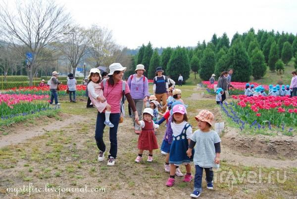 Дети в Саду Тюльпанов (Harima Science City) / Япония