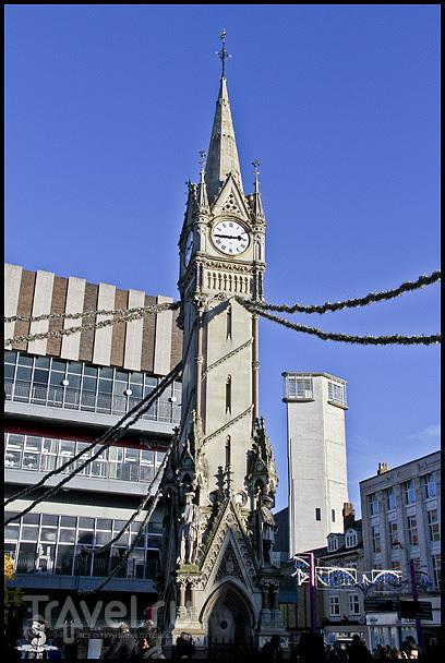 Clock tower в Лестере, Великобритания / Фото из Великобритании