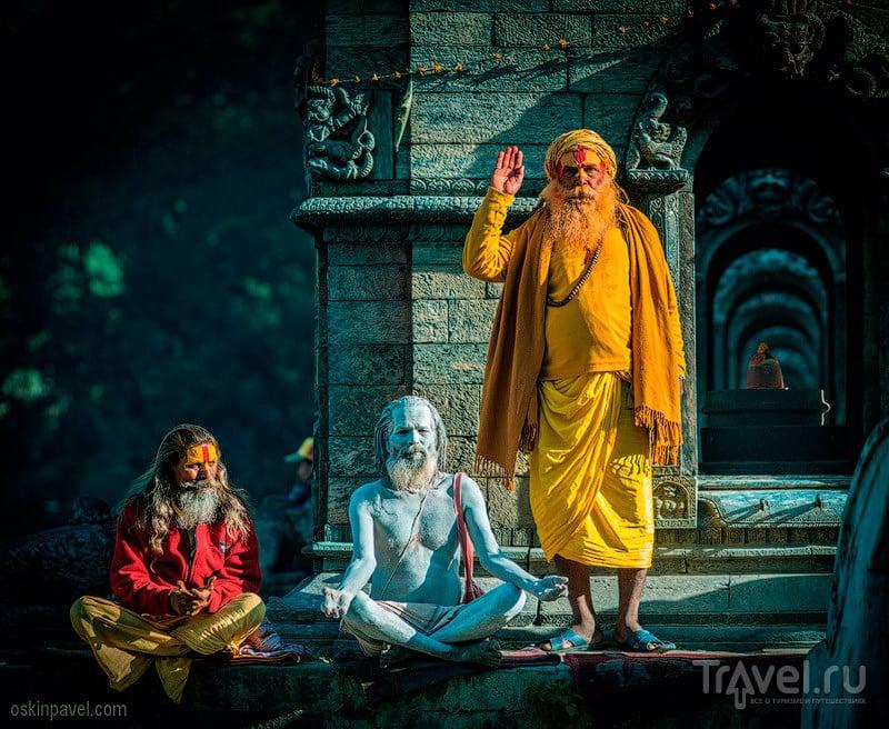 В храмовом комплексе Пашупатинатх, Непал / Фото из Непала
