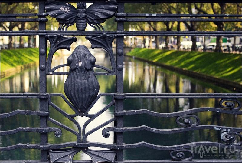 Королевская аллея (Königsallee) в Дюссельдорфе, Германия / Фото из Германии