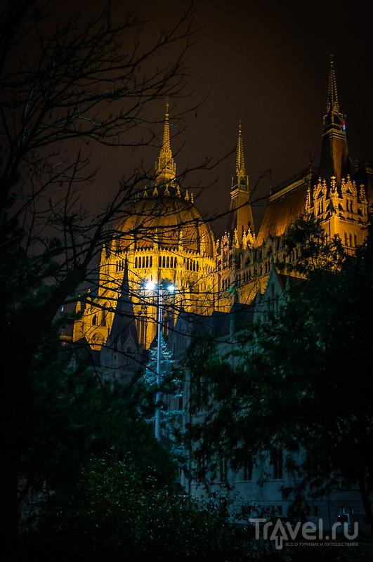 По вечернему Будапешту под дождем! / Фото из Венгрии