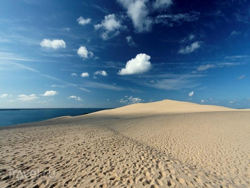 Дюна Пила - одна из самых популярных природных достопримечательностей Аквитании / Франция