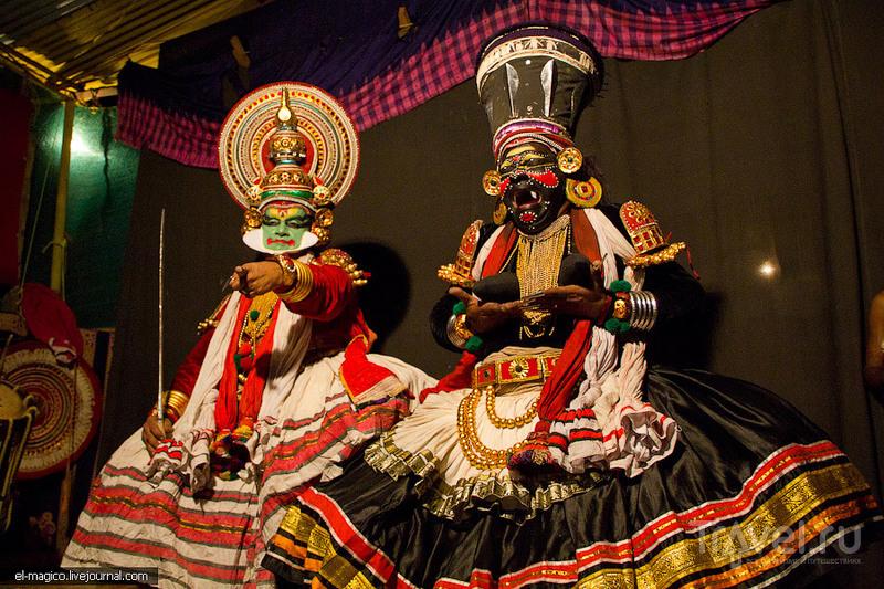 Катакали - театральное действо, вызывающее удивление и улыбки одновременно / Фото из Индии