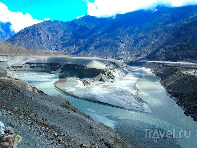 Реки Хунза и Инд, Пакистан / Фото из Пакистана